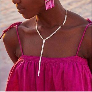 NWT Kendra Scott Gail Lariat Rose Gold Necklace